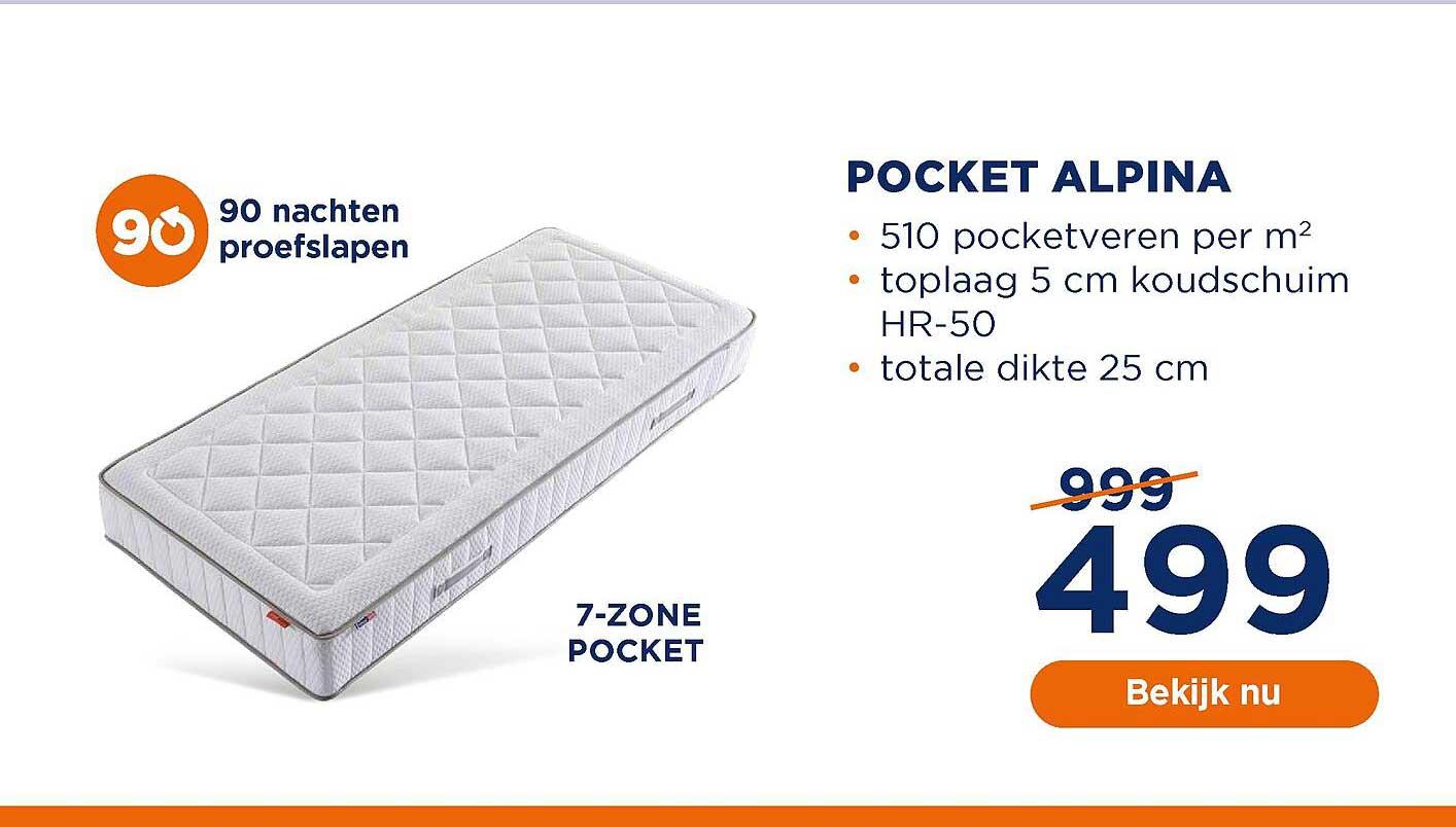 TotaalBED Pocket Alpina