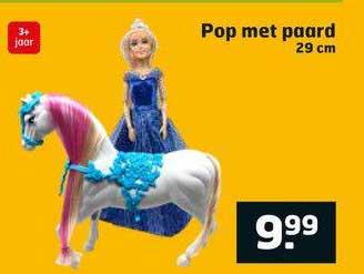 Trekpleister Pop Met Paard 29 Cm