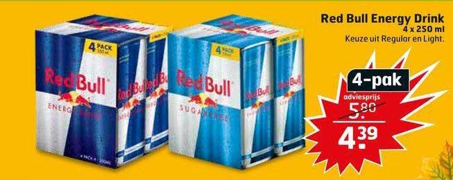 Trekpleister Red Bull Energy Drink 4 X 250 Ml