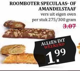 MCD Supermarkt Roomboter Speculaas- Of Amandelstaaf