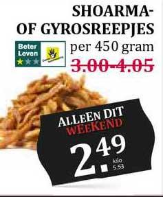 MCD Supermarkt Shoarma- Of Gyrosreepjes