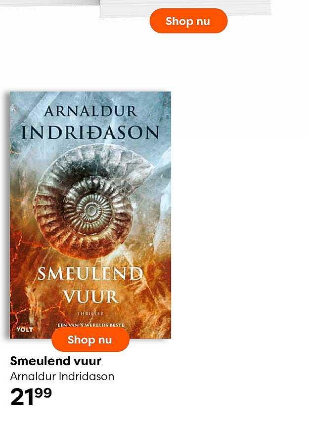The Read Shop Smeulend Vuur Arnaldur Indridason