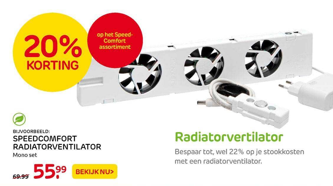Praxis Speedcomfort Radiatorventilator 20% Korting