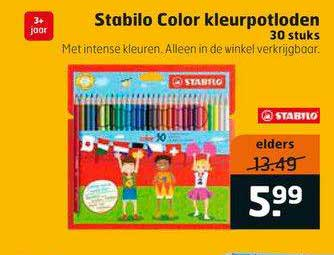 Trekpleister Stabilo Color Kleurpotloden 30 Stuks