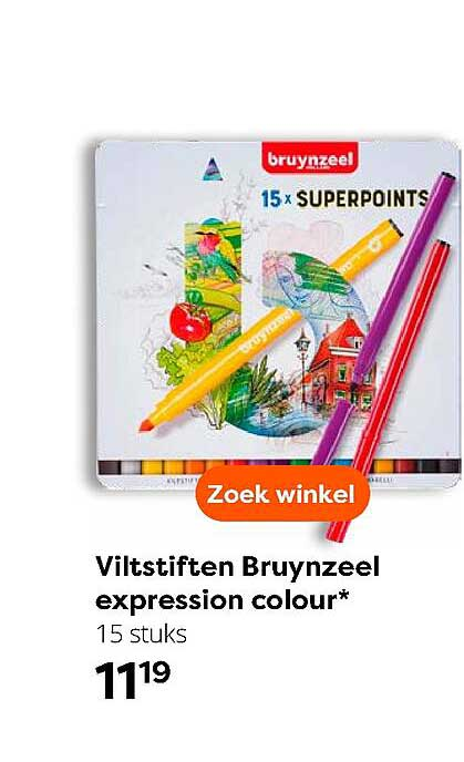 The Read Shop Viltstiften Bruynzeel Expression Colour