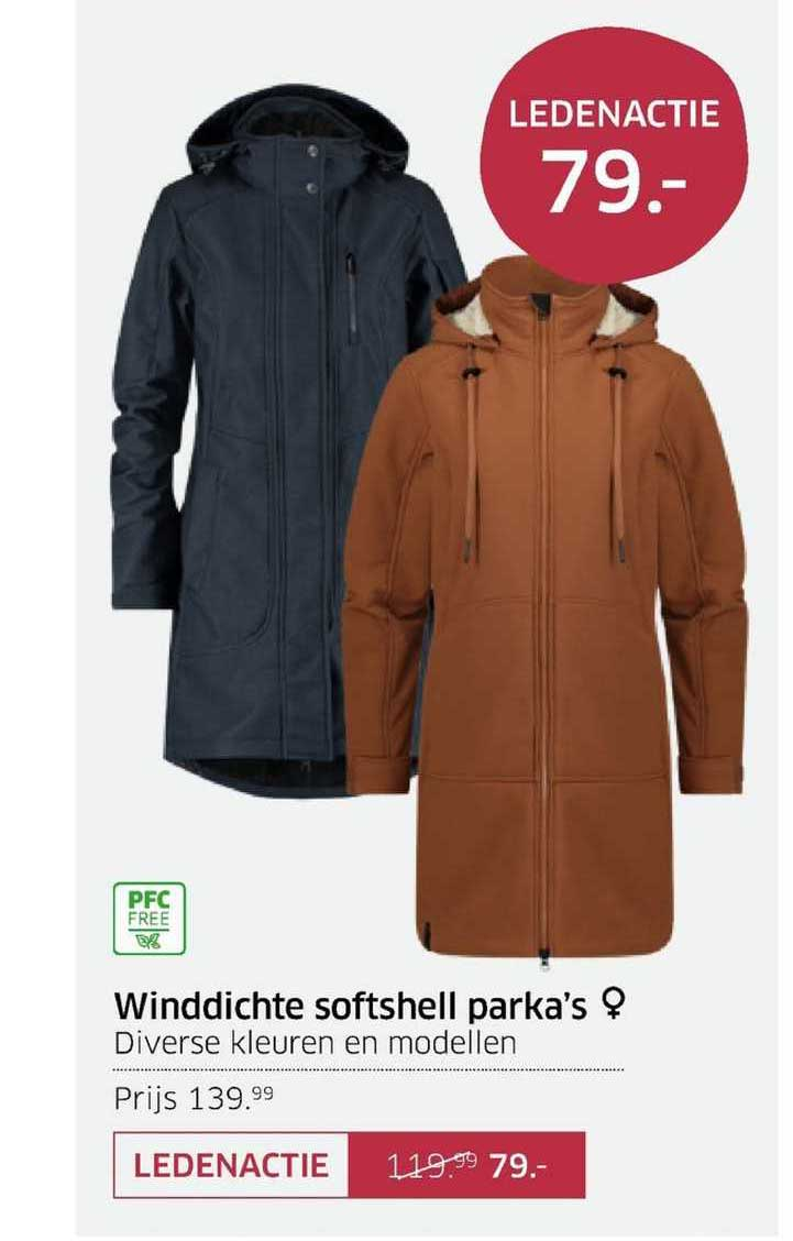 ANWB Winddichte Softshell Parka's