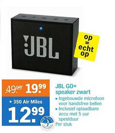 Albert Heijn JBL GO+ Speaker Zwart