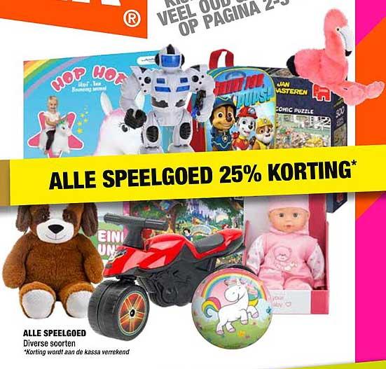 Big Bazar Alle Speelgoed: 25% Korting