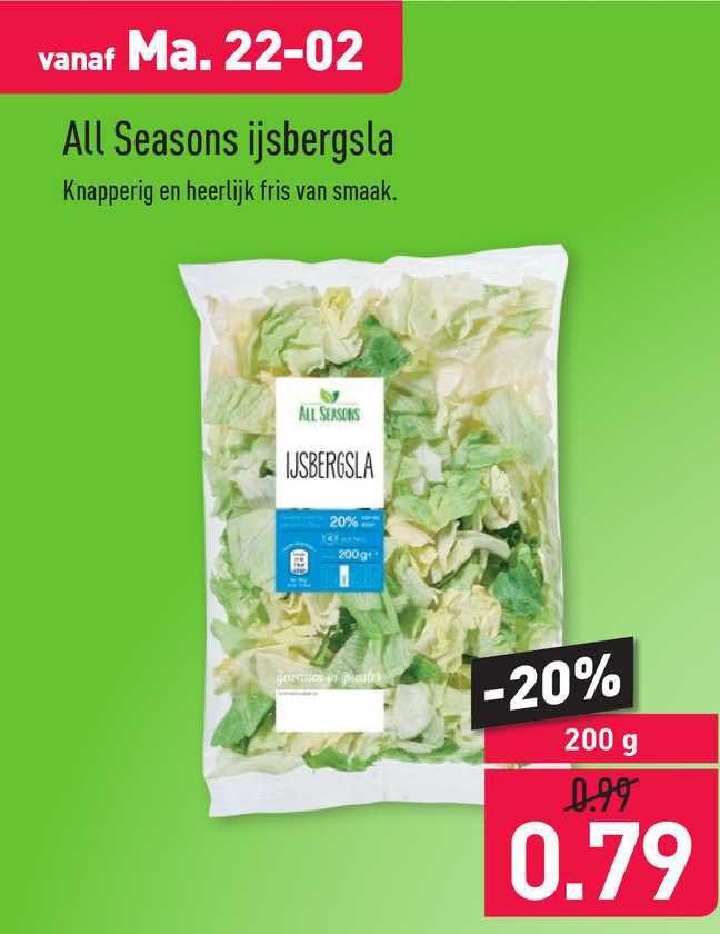 ALDI All Seasons Ijsbergsla