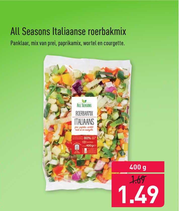 ALDI All Seasons Italiaanse Roerbakmix