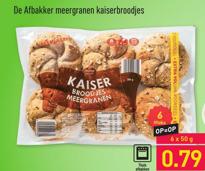 ALDI De Afbakker Meergranen Kaiserbroodjes