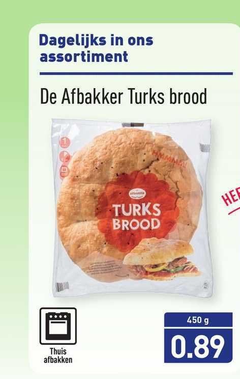 ALDI De Afbakker Turks Brood