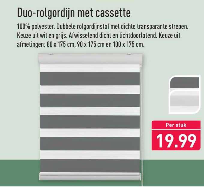 ALDI Duo-Rolgordijn Met Cassette