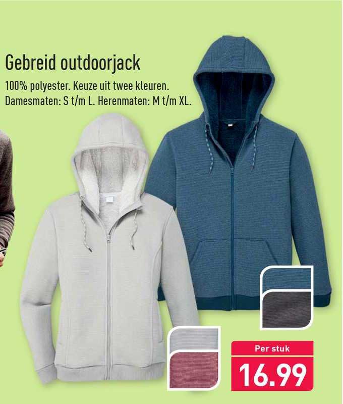 ALDI Gebreid Outdoorjack
