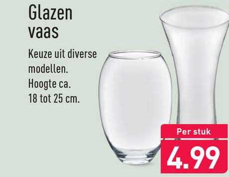 ALDI Glazen Vaas