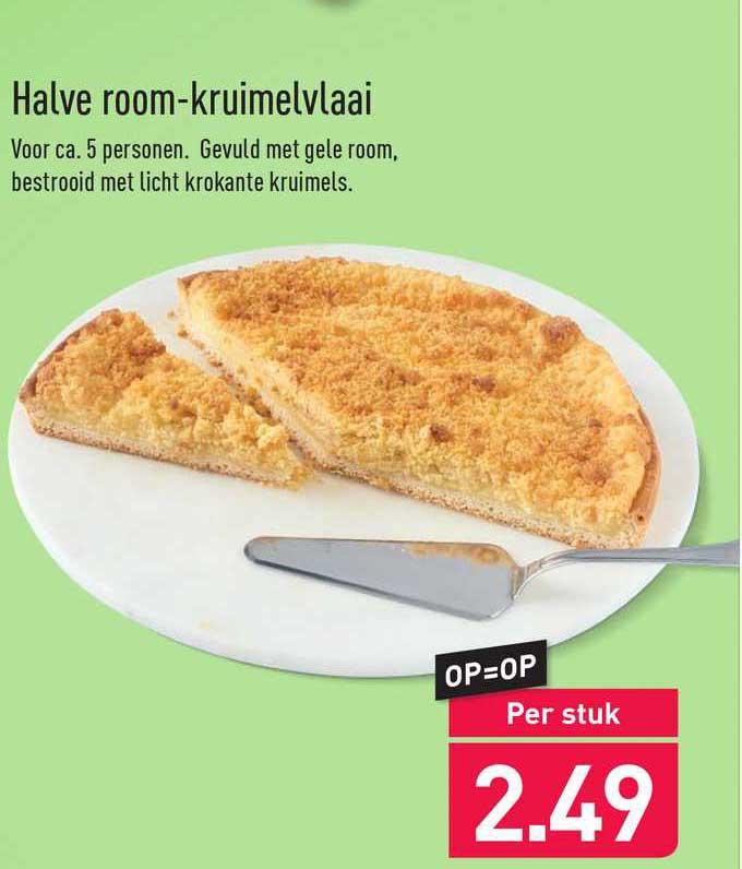 ALDI Halve Room-Kruimelvlaai