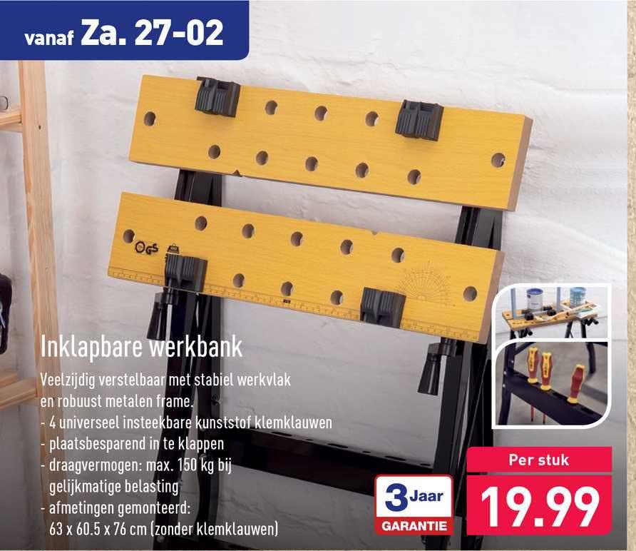 ALDI Inklapbare Werkbank