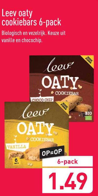 ALDI Leev Oaty Cookiebars 6-Pack