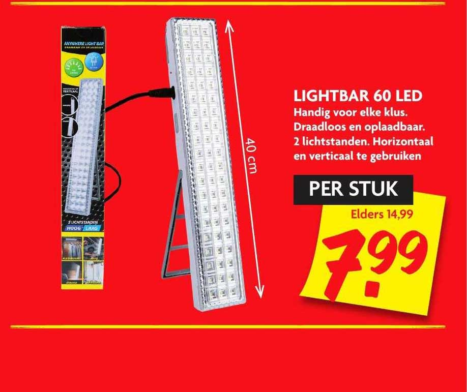 Dekamarkt Lightbar 60 LED