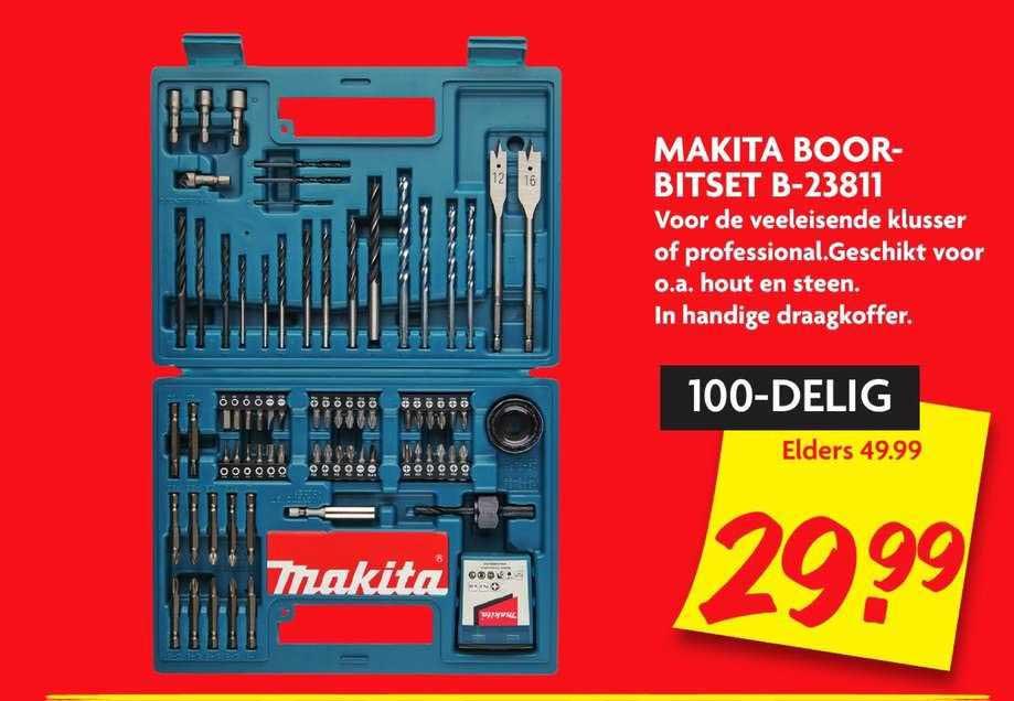 DekaMarkt Makita Boorbitset B-23811