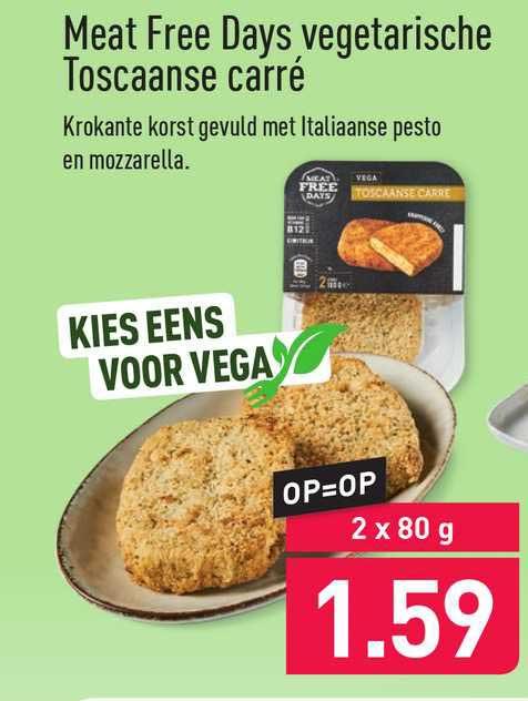 ALDI Meat Free Days Vegetarische Toscaanse Carré
