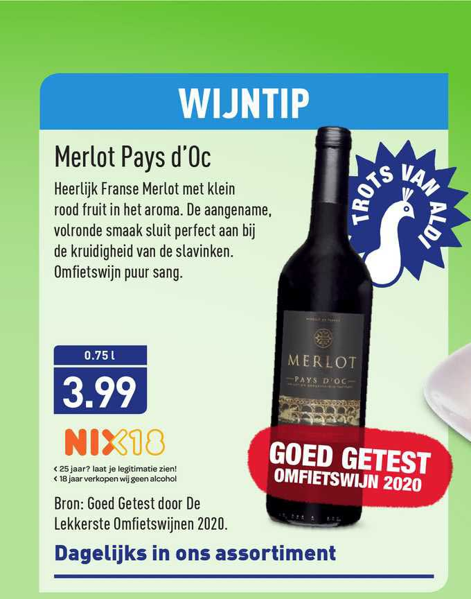 ALDI Merlot Pays D'Oc