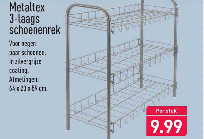 ALDI Metaltex 3-Laags Schoenenrek