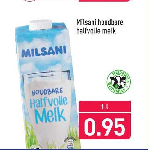 ALDI Milsani Houdbare Halfvolle Melk