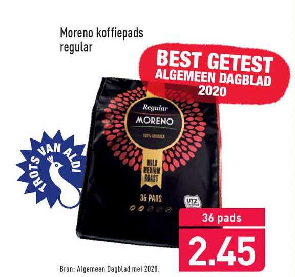 ALDI Moreno Koffiepads Regular
