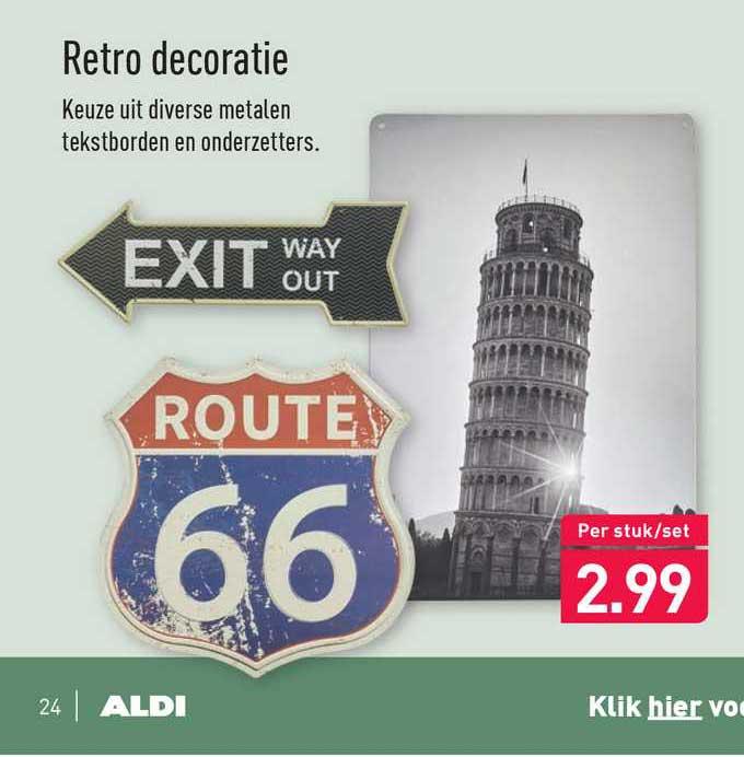 ALDI Retro Decoratie