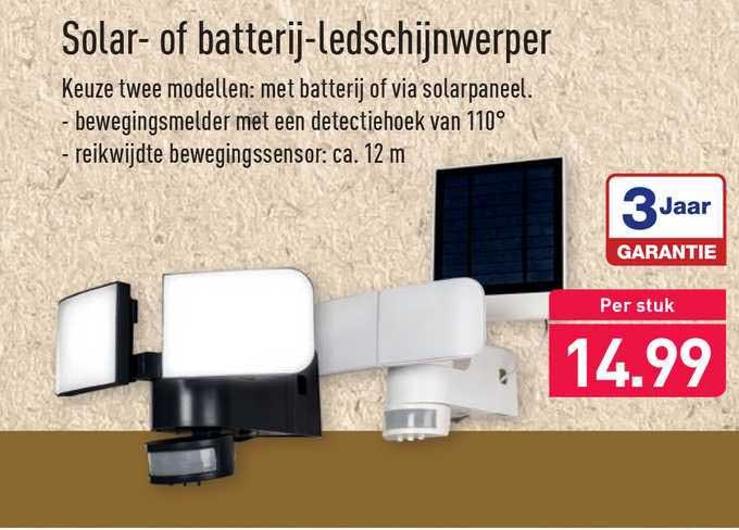 ALDI Solar- Of Batterij-Ledschijnwerper