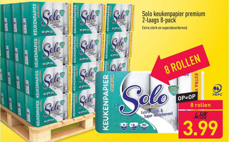 ALDI Solo Keukenpapier Premium 2-Laags 8-Pack