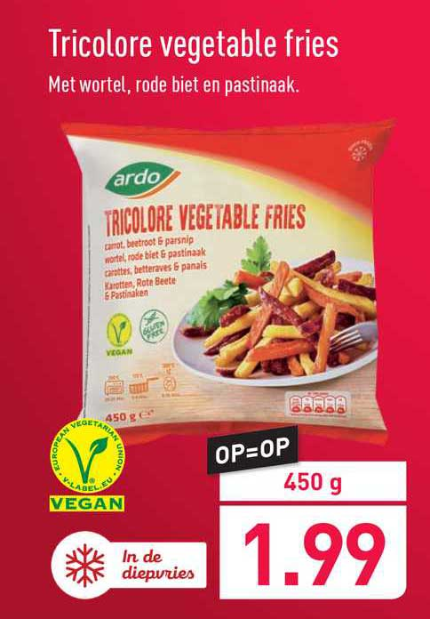 ALDI Tricolore Vegetable Fries