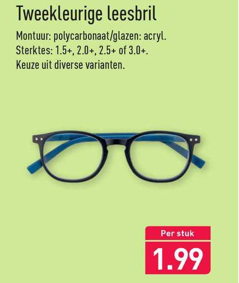 ALDI Tweekleurige Leesbril