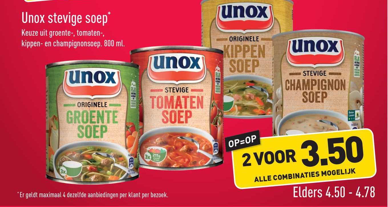 ALDI Unox Stevige Soep