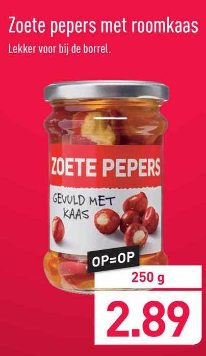 ALDI Zoete Pepers Met Roomkaas