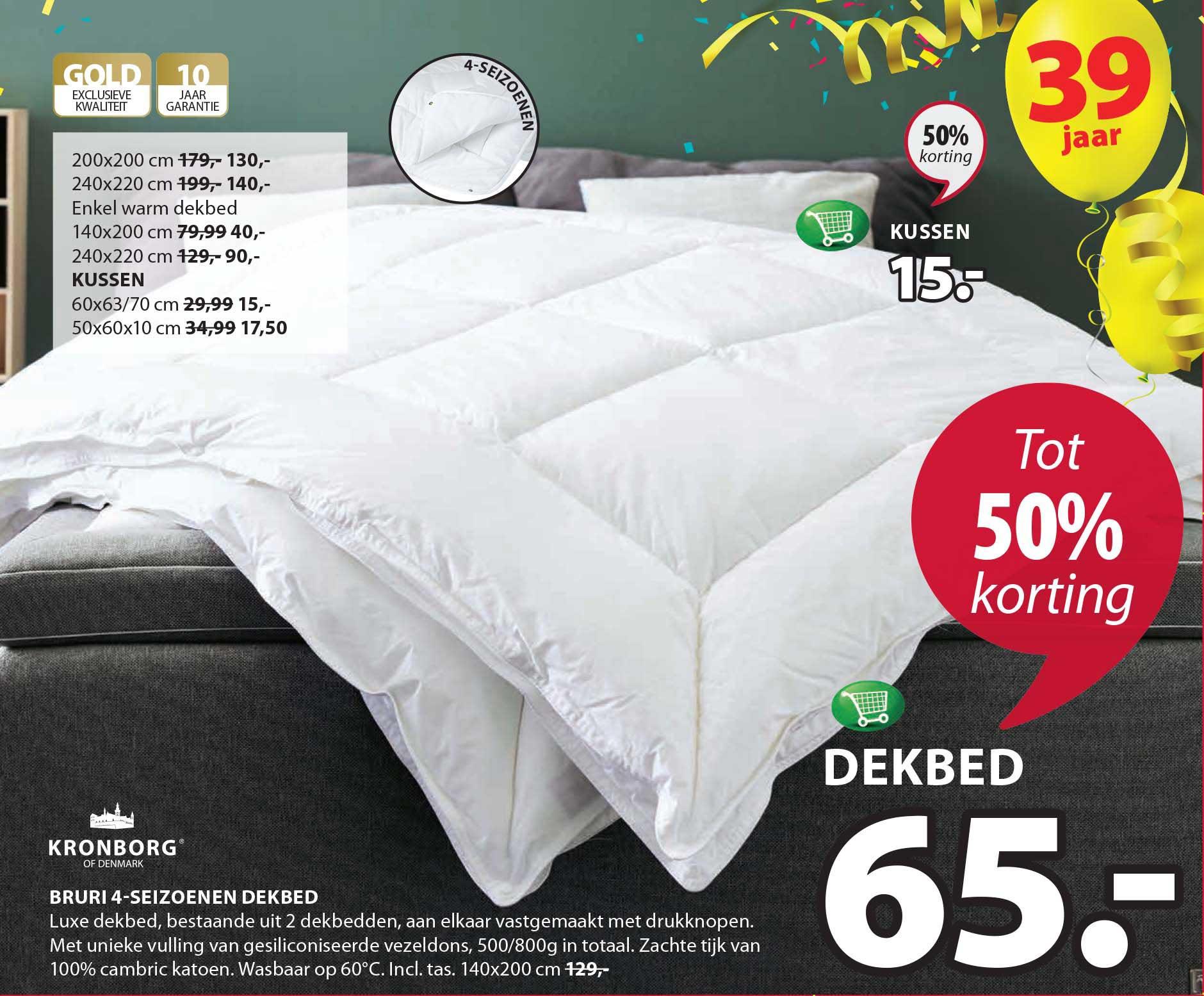 Jysk Kronborg Bruri 4 Seizoenen Dekbed: Tot 50% Korting