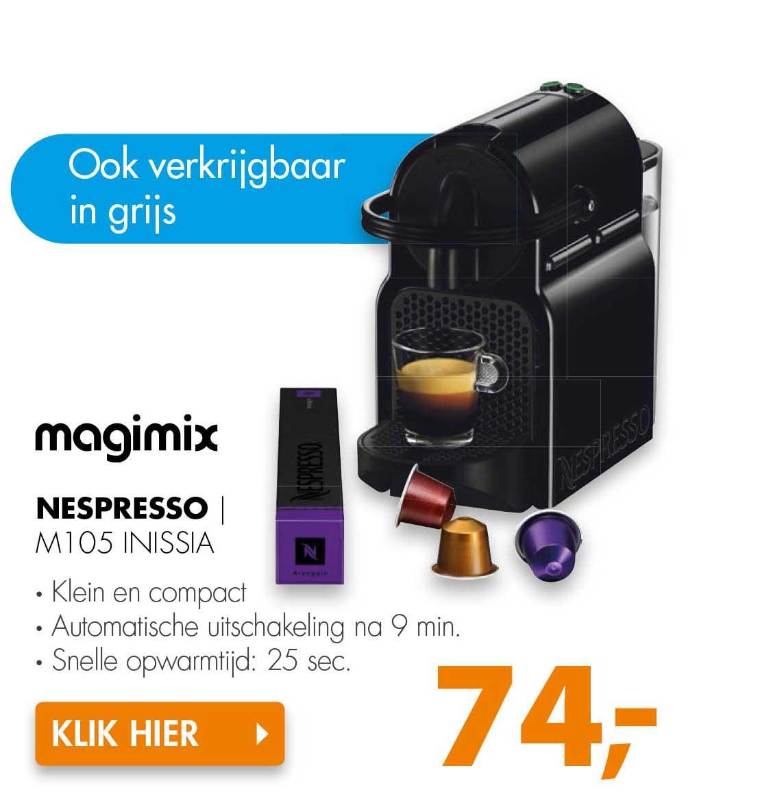 Expert Magimix Nespresso M105 Inissia