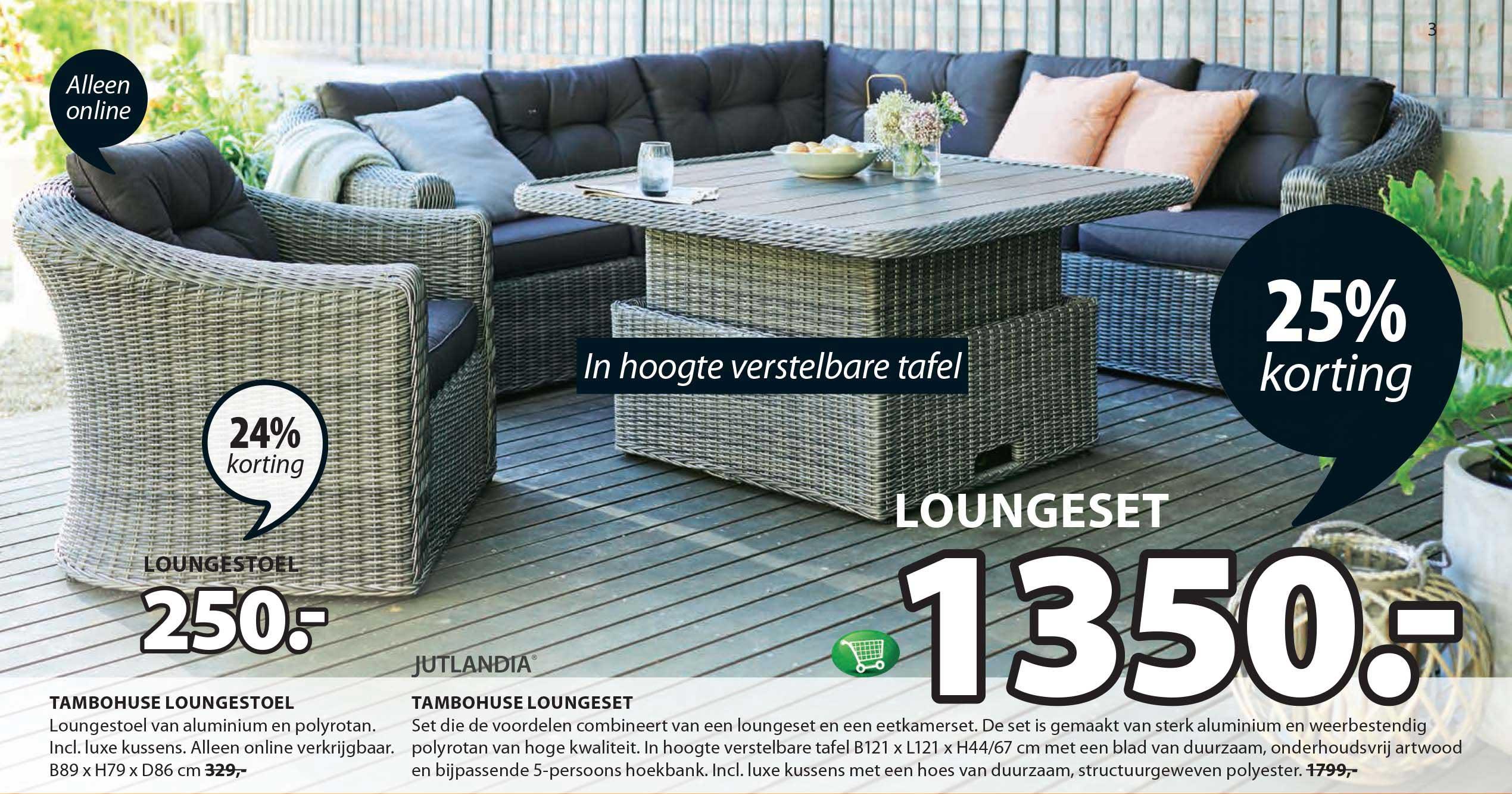 Jysk Tambohuse Loungeset: 25% Korting