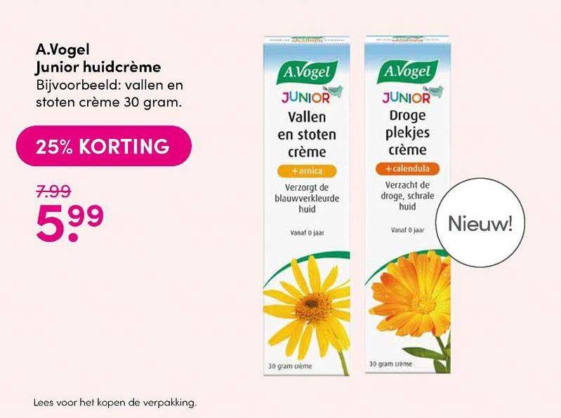 DA A.Vogel Junior Huidcrème 25% Korting