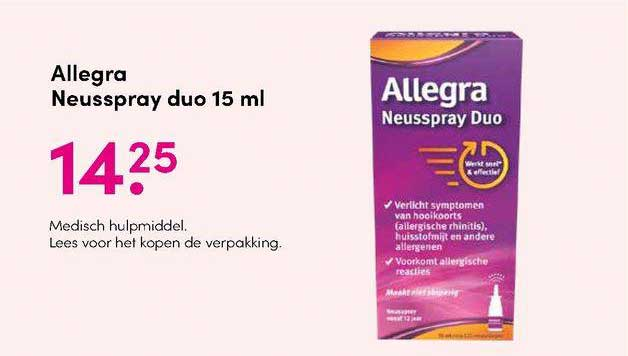 DA Allegra Neusspray Duo 15 Ml