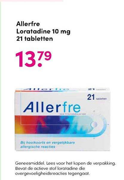 DA Allerfre Loratadine 10 Mg 21 Tabletten