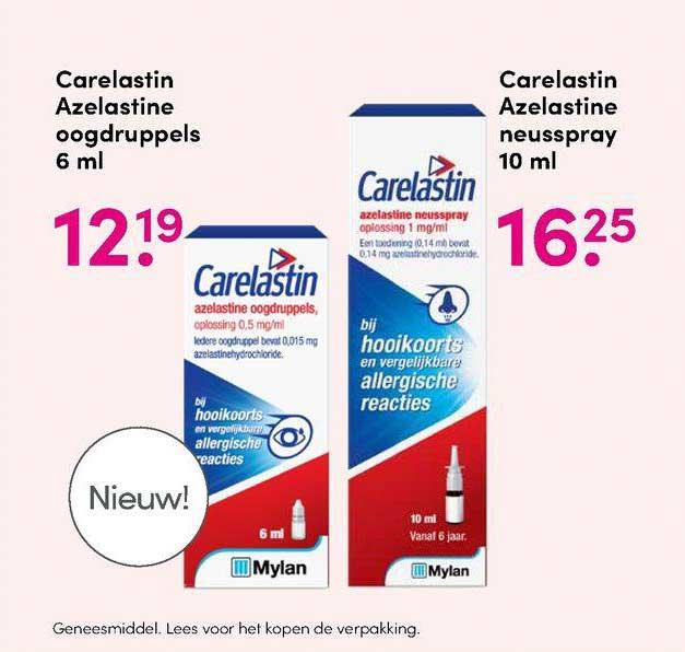 DA Carelastin Azelastine Oogdruppels 6 Ml Of Carelastin Azelastine Neusspray 10 Ml