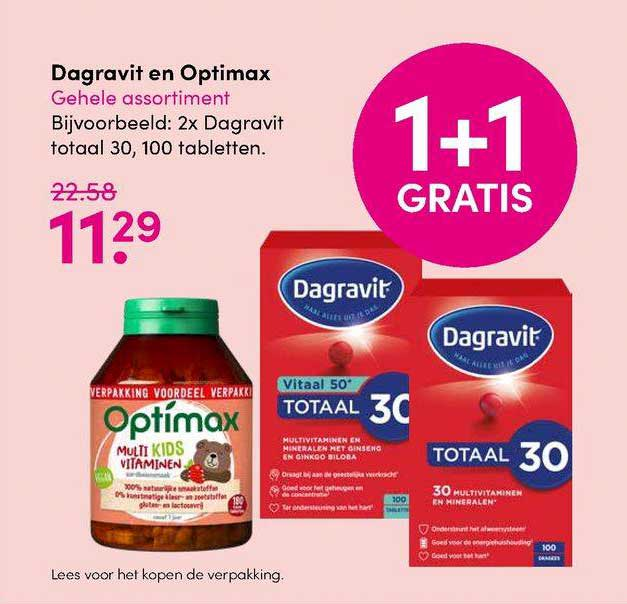 DA Dagravit En Optimax 1+1 Gratis