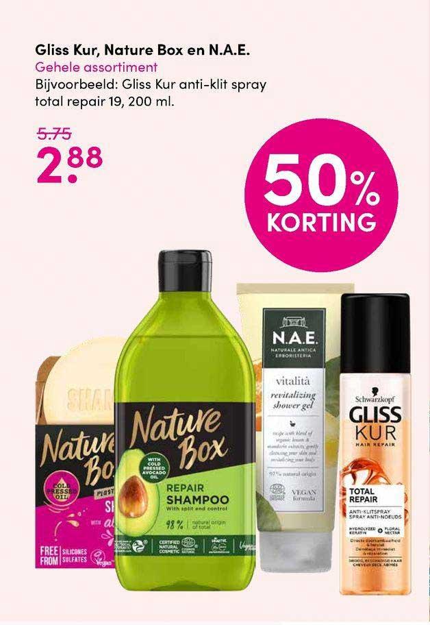 DA Gliss Kur, Nature Box En N.A.E. 50% Korting