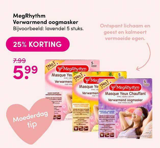 DA MegRhythm Verwarmend Oogmasker 25% Korting