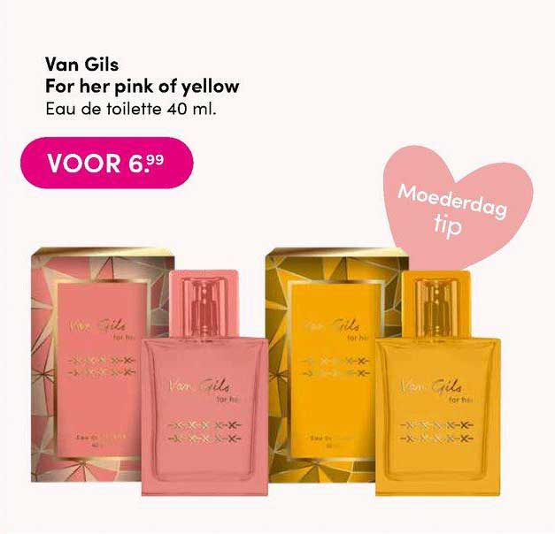 DA Van Gils For Her Pink Of Yellow