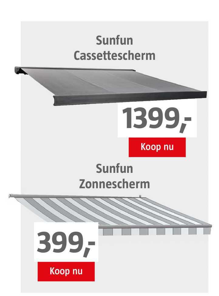 BAUHAUS Sunfun Cassettescherm Of Sunfun Zonnescherm