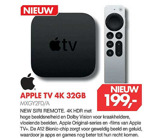 Vobis Apple TV 4K 32GB MXGY2FD-A