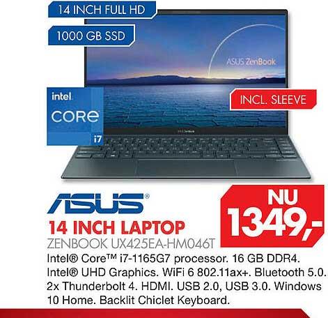 Vobis Asus 14 Inch Laptop Zenbook UX425EA-HM046T